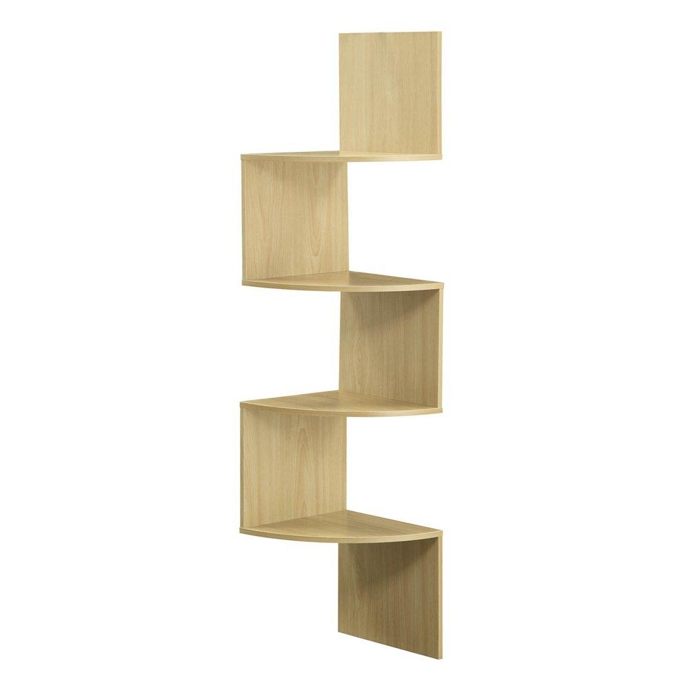 4ft Modern 4 Tier Corner Wall Shelf Hanging Storage