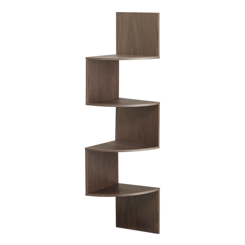 4ft Modern 4 Tier Corner Wall Shelf Hanging Storage