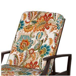 Premium box edge outdoor chaise lounge cushion red orange for Box edge chaise cushion