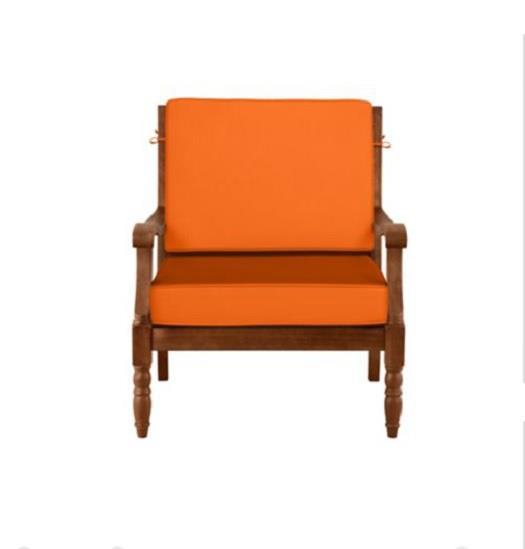 Deluxe outdoor lattice eucalyptus furniture deep seat for Eucalyptus patio furniture