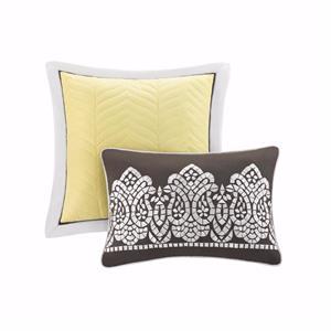 Cool Modern Aqua Blue Yellow Paisley Coverlet Quilt Bedspread Shams Pillows Set