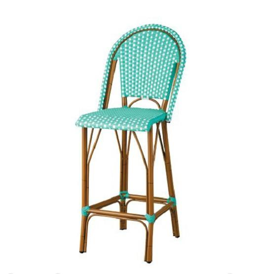 Outdoor 45 High Back Bar Stools Counter Height Chairs Patio Furniture 4 Colors Ebay