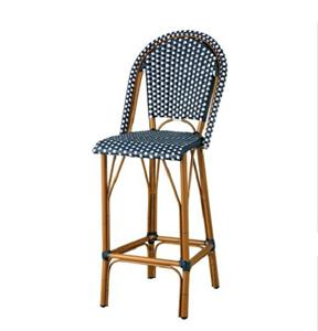Outdoor 45 High Back Bar Stools Counter Height Chairs Patio Furniture 4