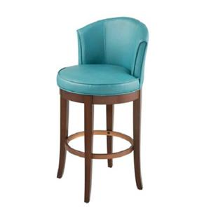 Casual modern teal blue faux leather swivel bar stool back counter furniture ebay - Teal blue bar stools ...