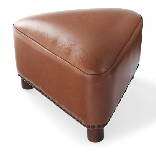 Textured Bonded Leather Modern Artistic Triangle Footstool Ottoman 12 Colors