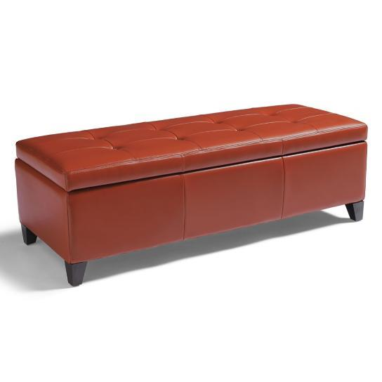 Textured Bonded Leather Modern Tufted Storage Bench 12 Colors Entryway Bedroom Ebay