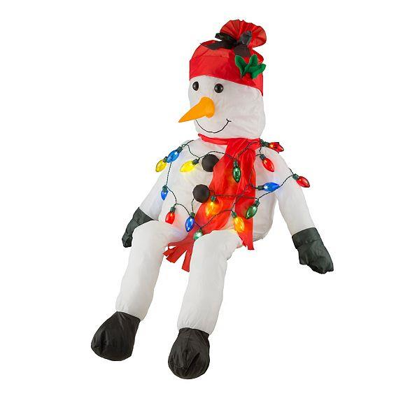 Santa Claus Decorations Uk: Stuffable Lighted Santa Claus Or Snowman Decoration