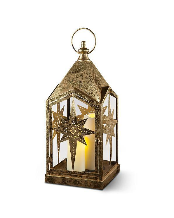 Indoor outdoor led lighted christmas star candle lanterns for Outdoor christmas lantern decorations