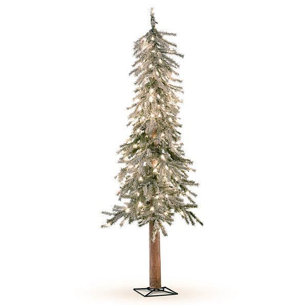 Sale lighted pre lit flocked alpine christmas tree indoor for Indoor christmas decorations sale