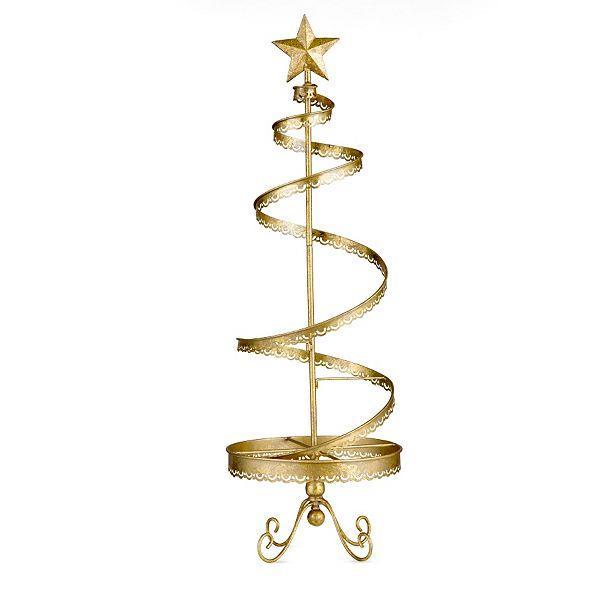 Metal christmas ornament display tree indoor holiday decor