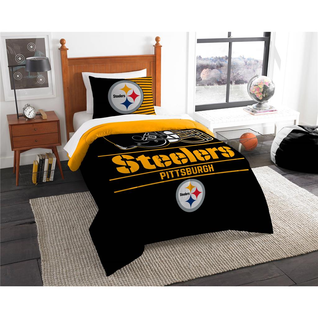 pittsburgh steelers nfl comforter set w shams officially