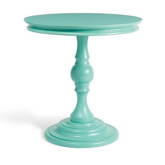 boutique home modern vintage round pedestal accent side end table 4 colors ebay. Black Bedroom Furniture Sets. Home Design Ideas