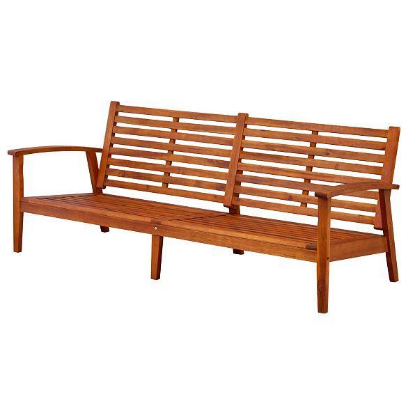 Outdoor eucalyptus hard wood large sofa couch settee deep for Eucalyptus patio furniture