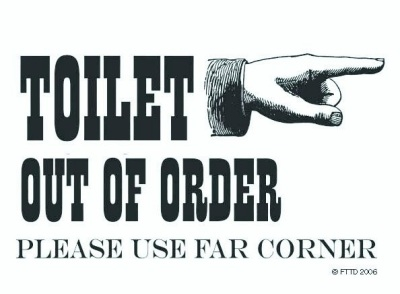 Metal Toilet Out Of Order Use Corner Magnet Humour Fun Ebay