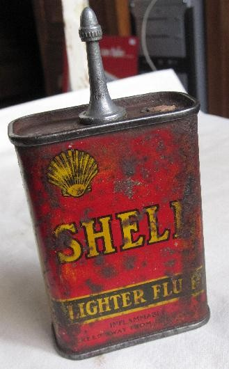 OLD-SHELL-Advertising-LIGHTER-CLEANING-FLUID-HANDY-OIL-TIN-1940s-PETROL-OIL