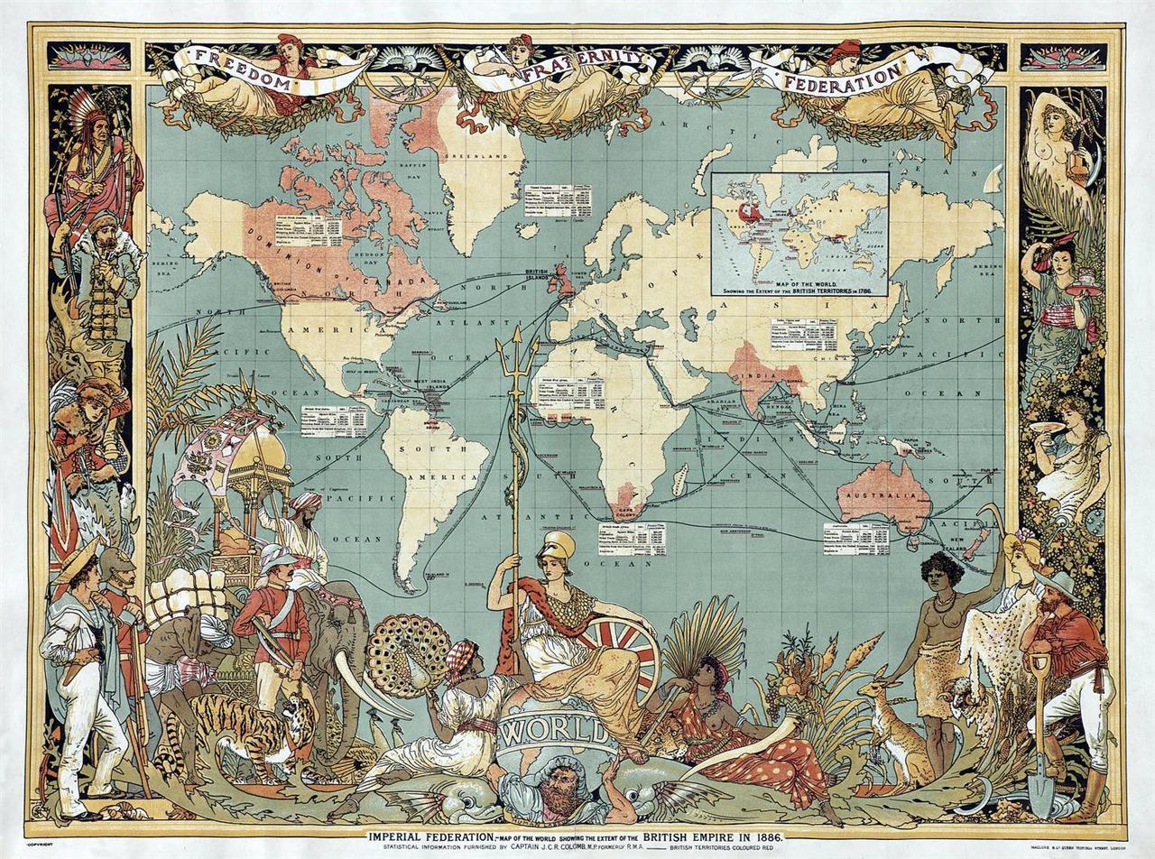 Colour repro antique victorian british empire decorative britannia image is loading colour repro antique victorian british empire decorative britannia gumiabroncs Gallery