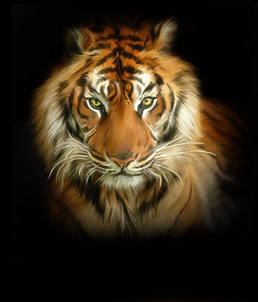 Lion Tiger Leopard Large 10 x 8 Inch Size Canvas Painting ...