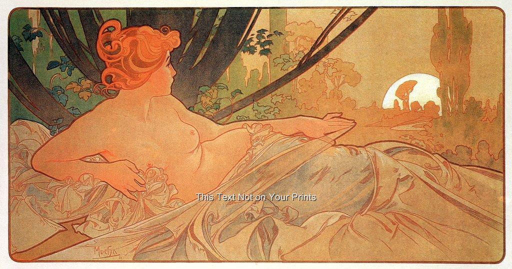 Rare Alfons ALPHONSE MUCHA ART NOUVEAU imprime vintage reproduction ...