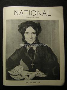 1943 helen hayes harriet autographed signed national. Black Bedroom Furniture Sets. Home Design Ideas