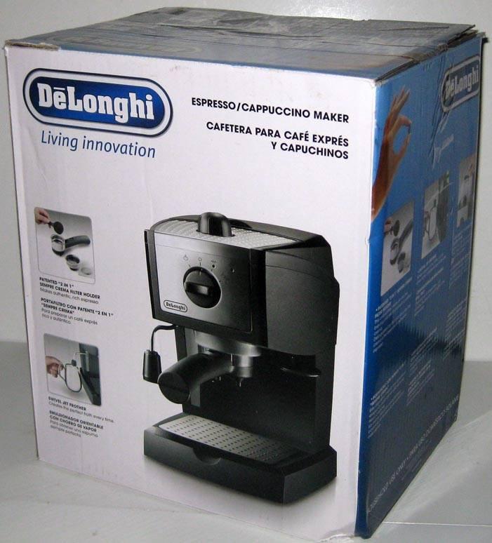 Delonghi Coffee Maker Not Brewing : DELONGHI ESPRESSO AND CAPPUCCINO MAKER Coffee Brewer Machine Black Silver eBay