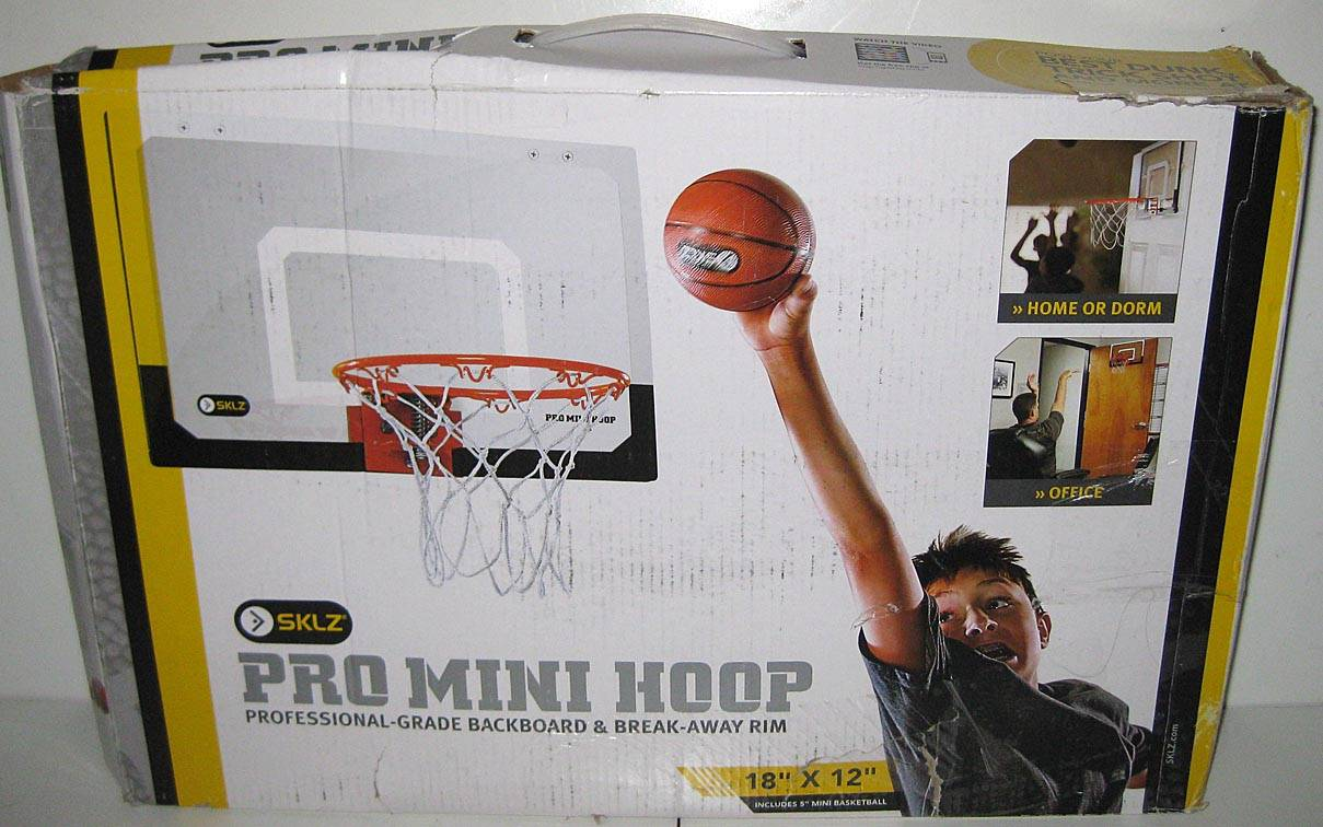 pro mini basketball and hoop over door hanging net office bedroom ball