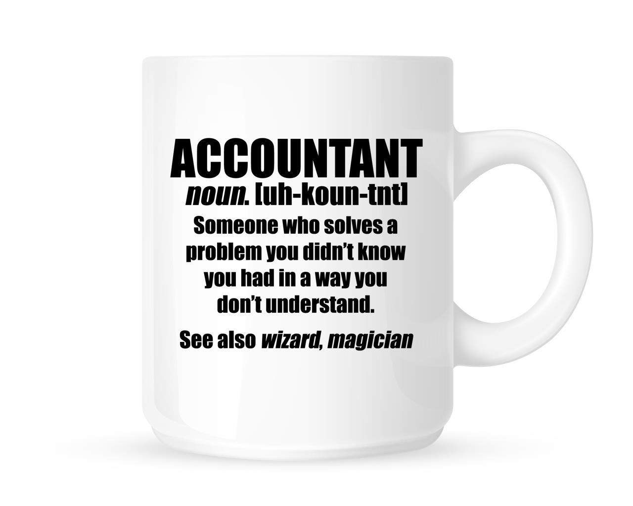 Accountant Funny Job Definition Novelty Tea Coffee Mug
