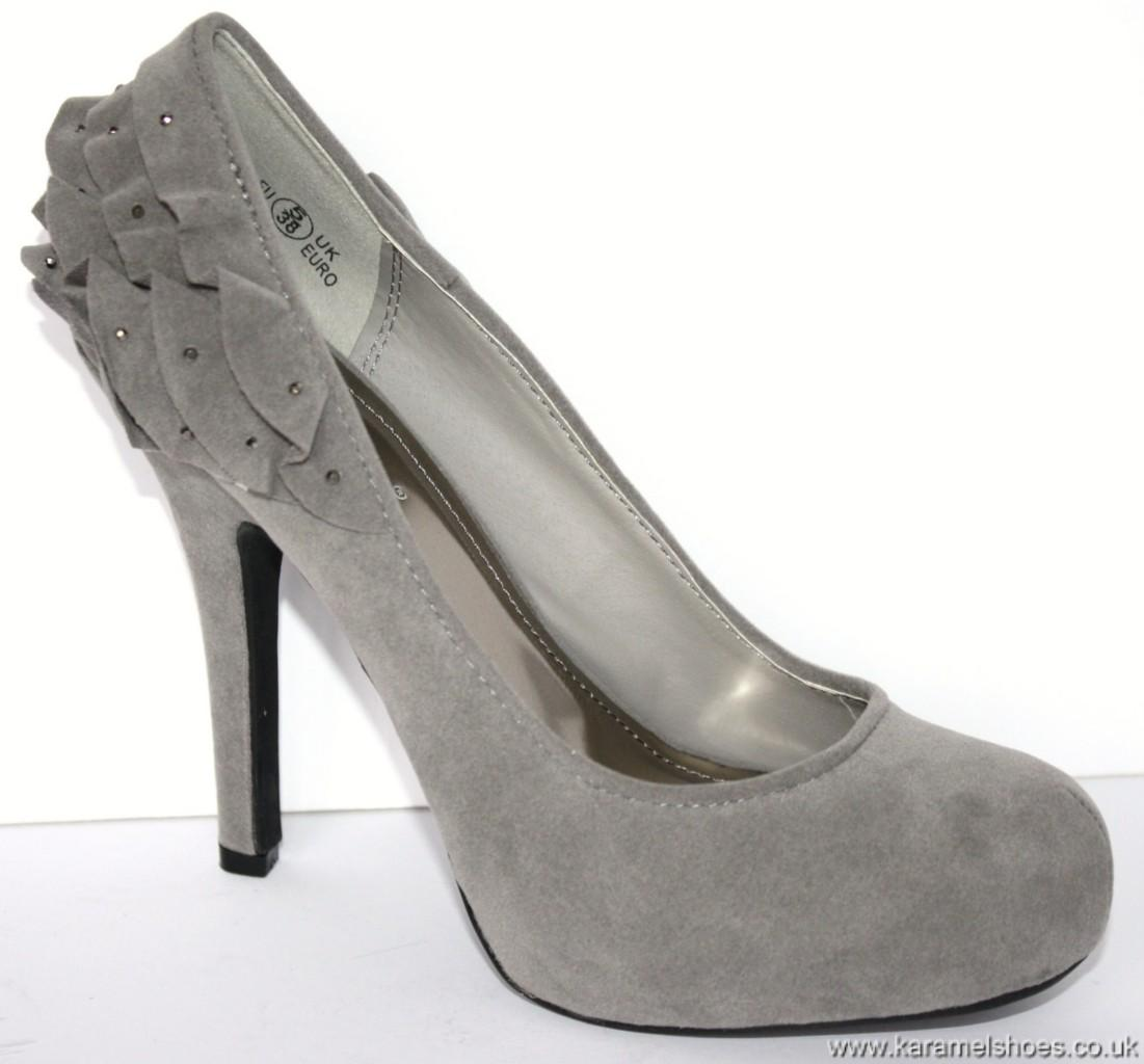 l2957 new grey high heel court shoes size 5 38 ebay