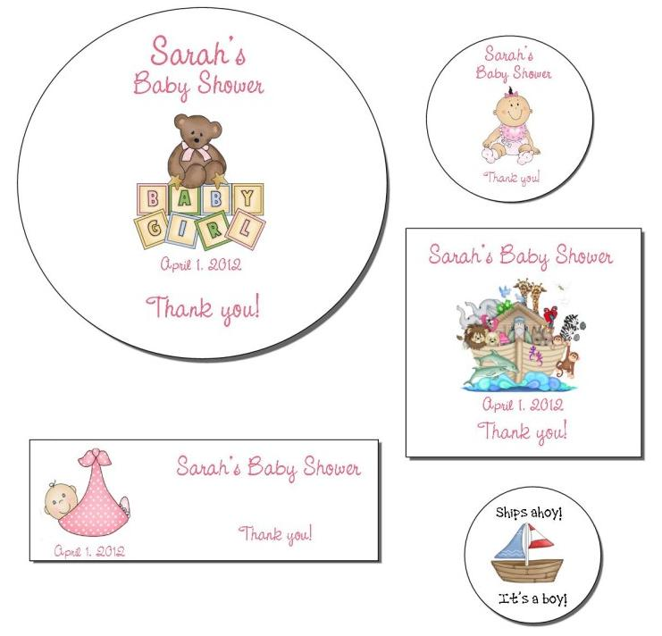 details about personalized baby shower labels stickers over 250