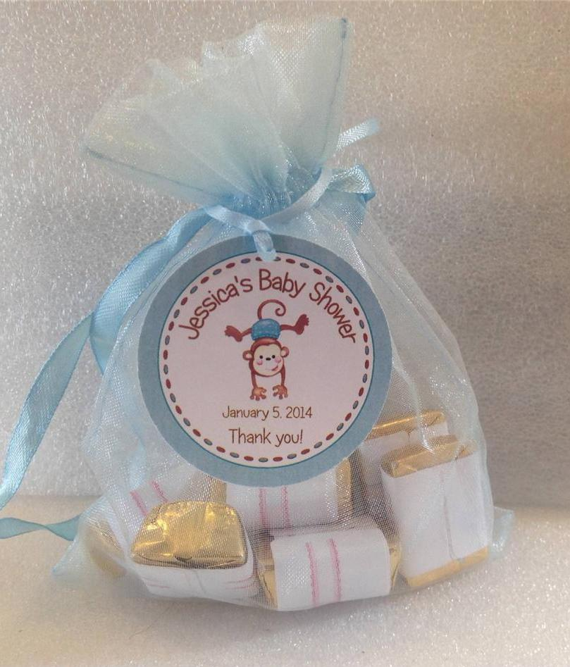 Baby Shower Favor Tags It S A Girl Boy Monkey With Border Ebay