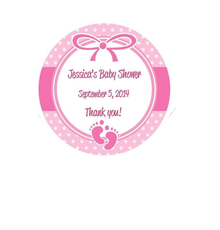 "Baby Shower Stickers For Favors: 1.67"" Baby Shower Favor Stickers - Pink, Blue Or Yellow"