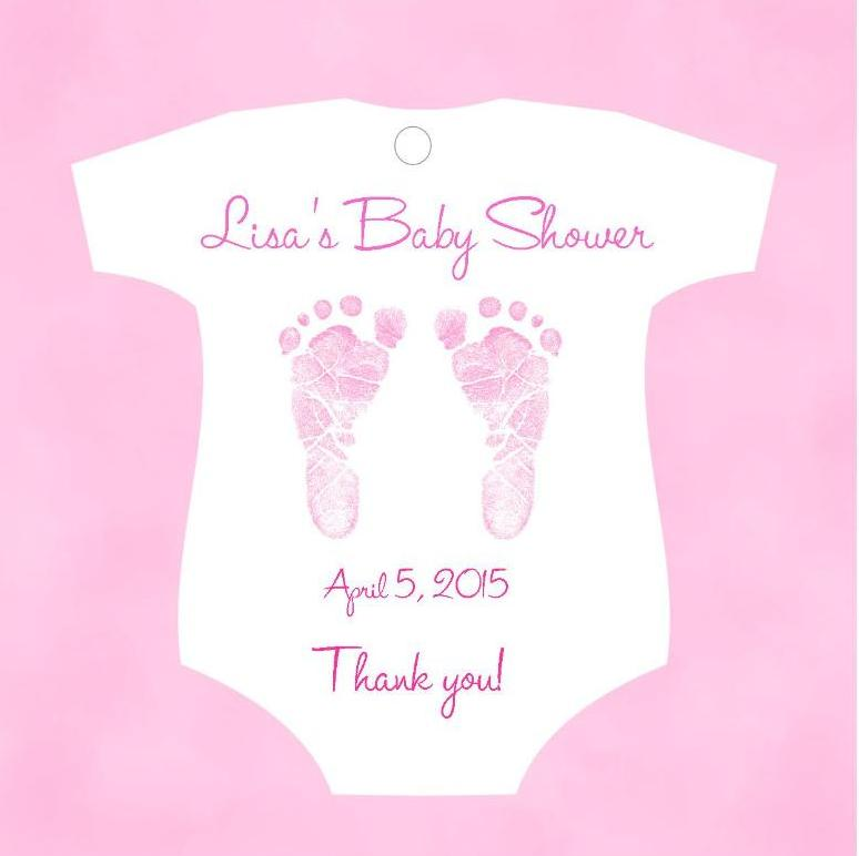Baby Shower Favor Tags Shirt Shaped Pink Blue Purple Or Green