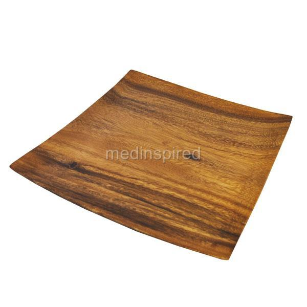 Acacia Wood Plates : Luxury acacia wood square plate cheese dinner sushi