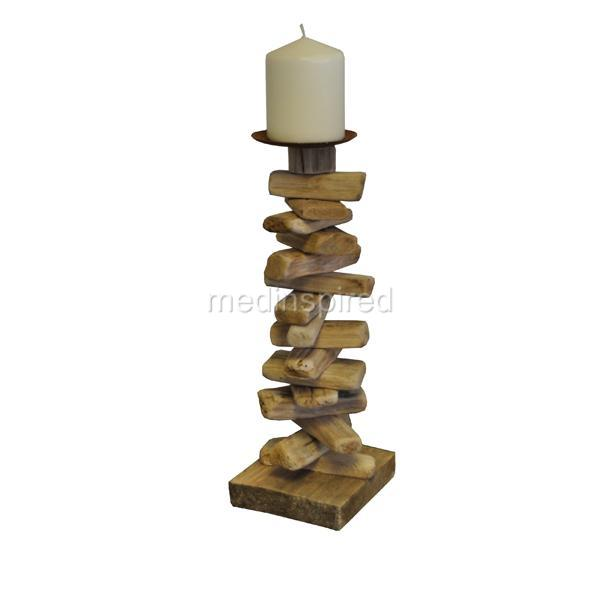 ... about BEAUTIFUL TALL DRIFTWOOD CANDLE HOLDER - TEALIGHT 32cm/13