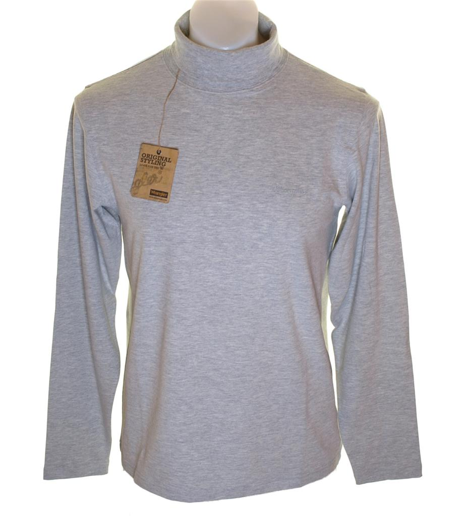 Bnwt mens wrangler long sleeve stretch polo roll neck top for Stretch polo shirt mens