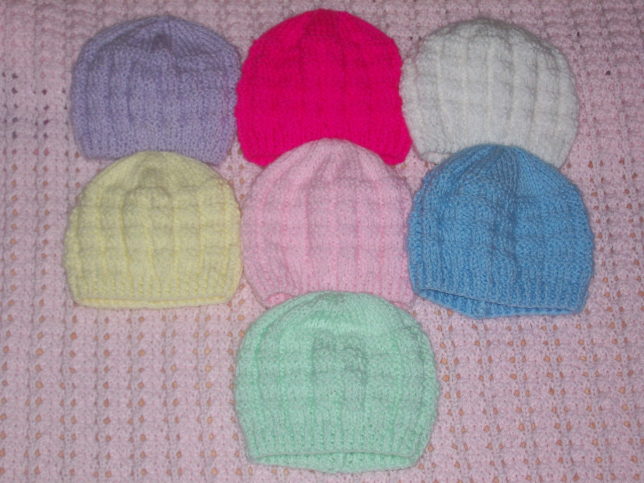 Knitted Baby Boy Hat Patterns : Newborn Girls/Boys Basketweave Pattern Hand Knitted Baby Beanie Hat eBay