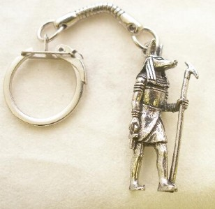 Egyptian God Anubis Keyring keychain English Pewter BN
