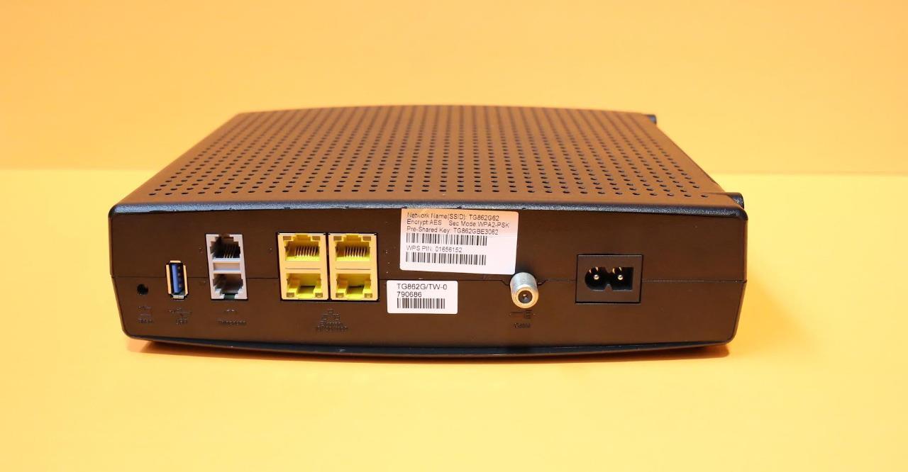 Arris Tg862g Telephony Cable Modem Router Gateway Docsis 3