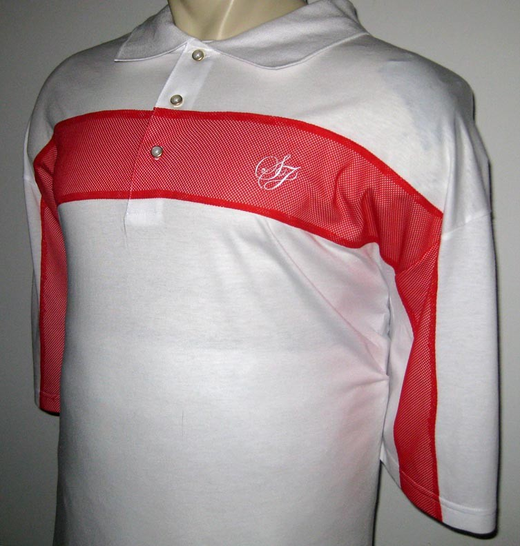 New 5xb sean john mens polo shirt white red 5x 5xl big ebay for Mens 5x polo shirts