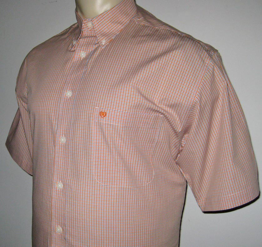 New lt izod mens shirt button down orange l large tall ebay for Izod button down shirts