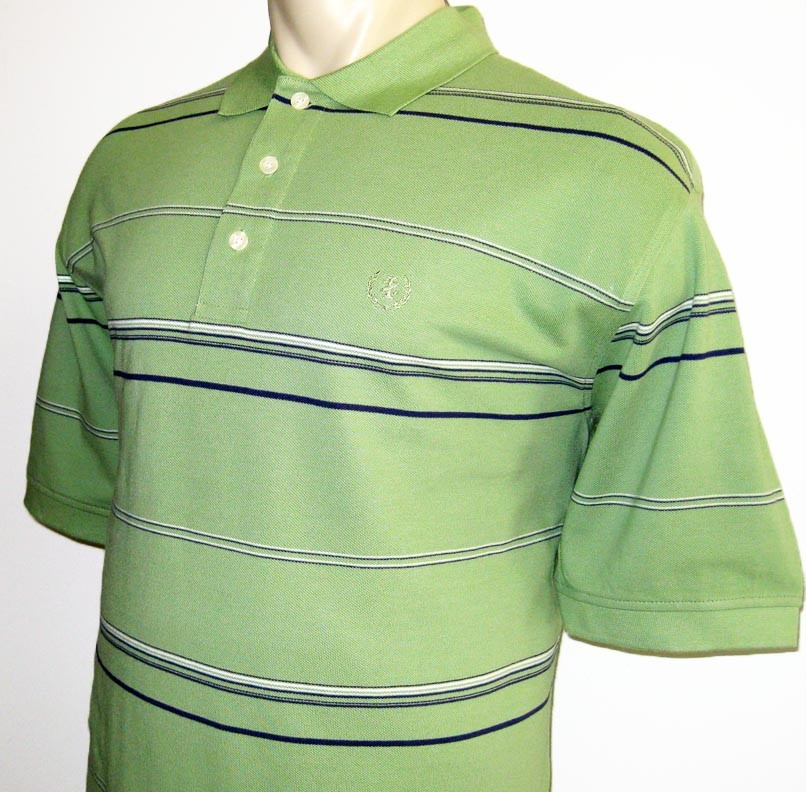 New izod mens polo shirt short sleeve apple green striped for Mens 2xlt short sleeve shirts
