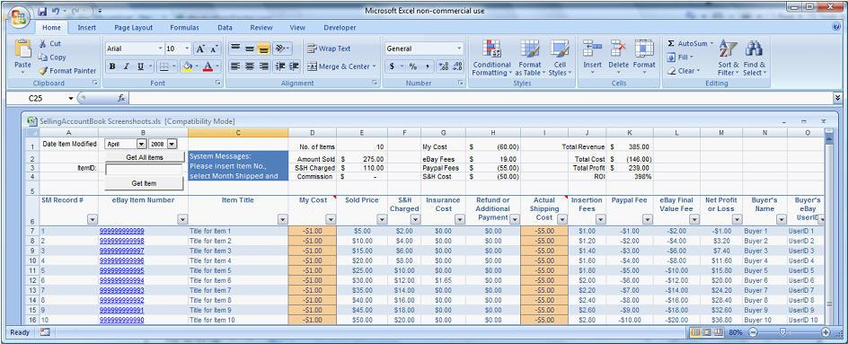 2017 Easy Auctions Tracker Ultimate Automated Excel
