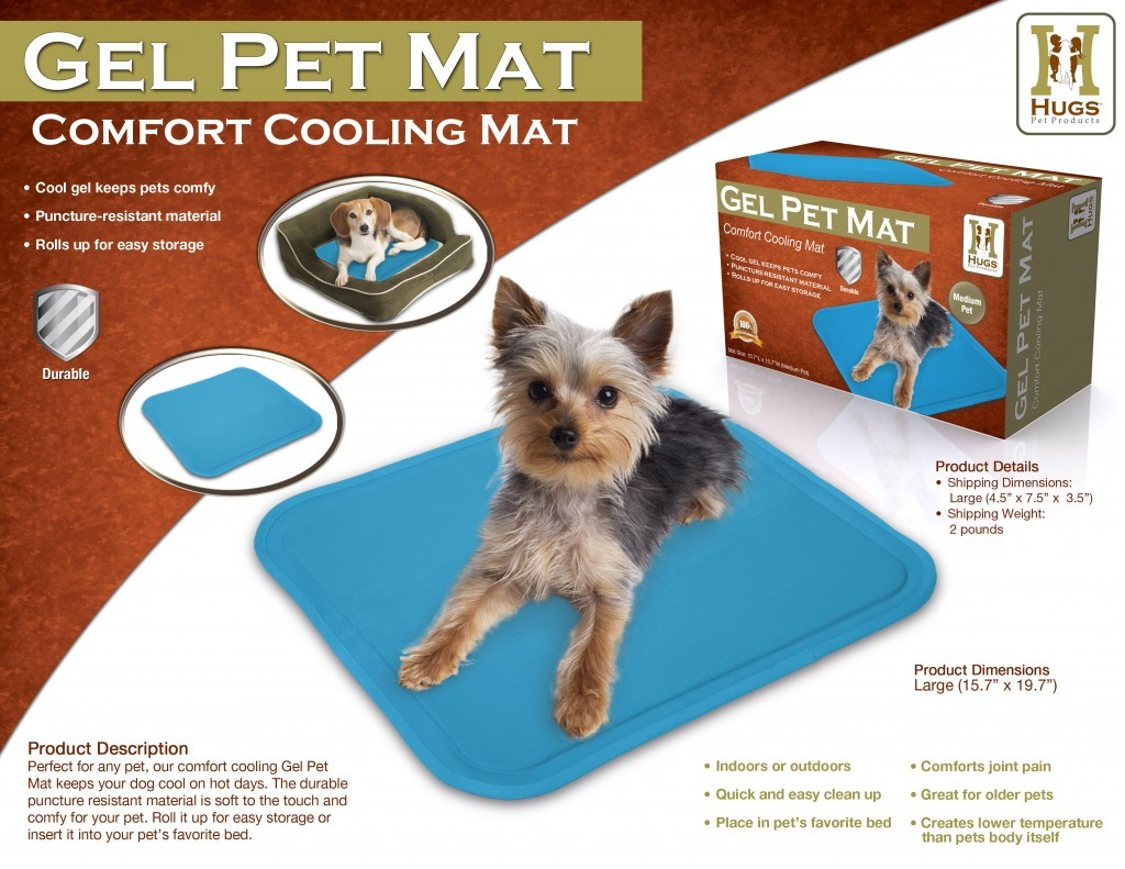 pet cooling mat gel pad for small medium dog cat. Black Bedroom Furniture Sets. Home Design Ideas