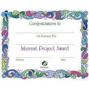 Girl Scout Award Certificate Template