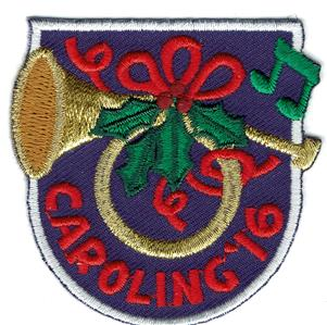 Girl boy cub xmas caroling 2016 39 16 horn fun patches for Cub scout ornament craft