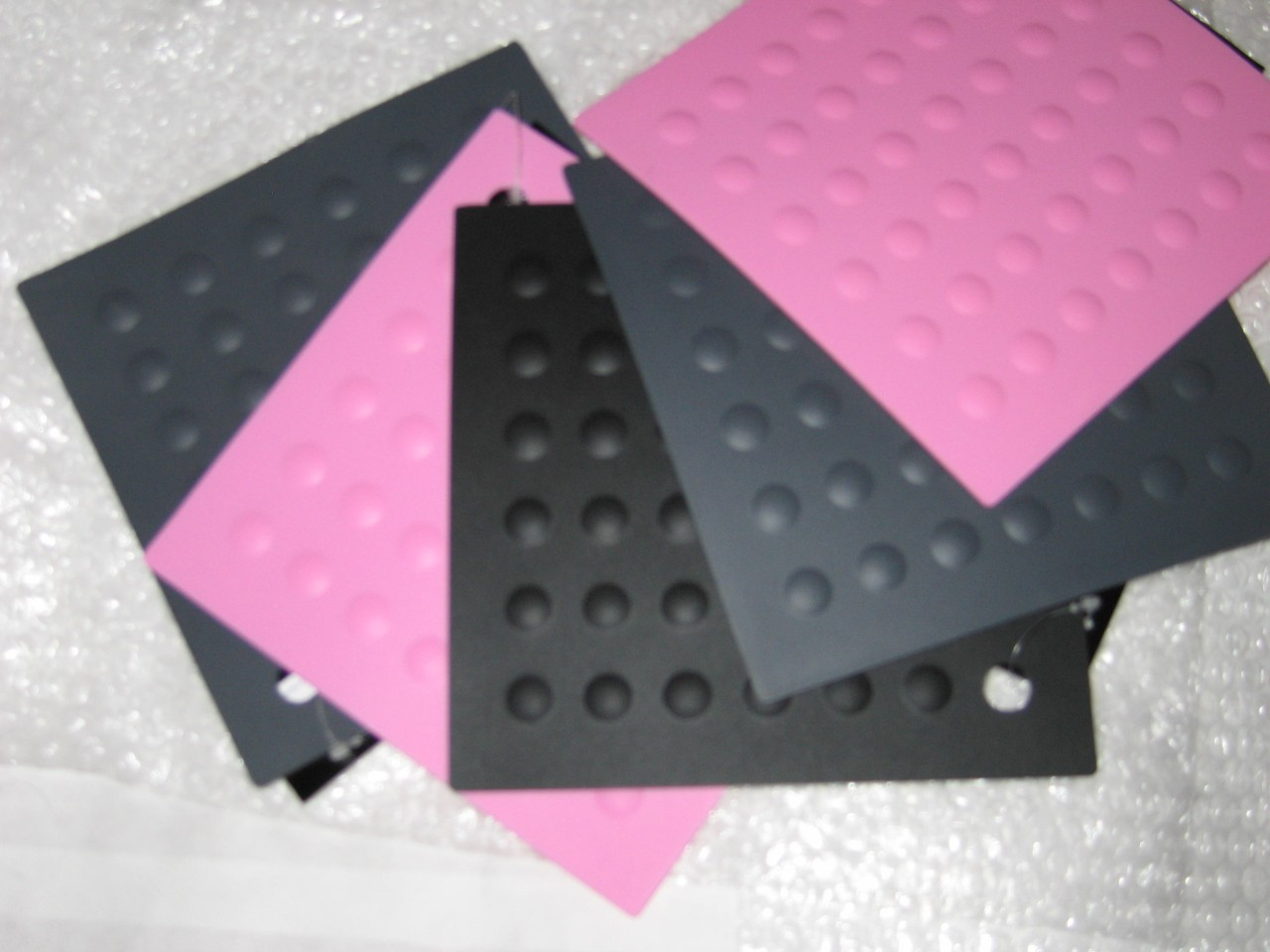 BLACK PINK SQUARE SILICONE MAT TRIVET place HEAT  pan