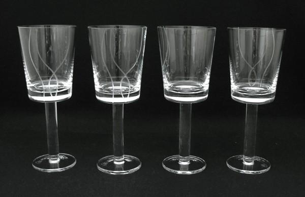Stunning Set Of 4 Quality Royal Doulton Crystal Wine