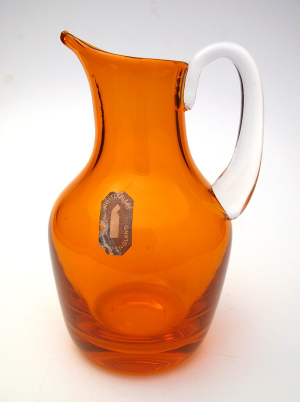 RARE-TANGERINE-ORANGE-WHITEFRIARS-BEAK-JUG-NON-PRODUCTION-COLOUR-WITH-LABEL