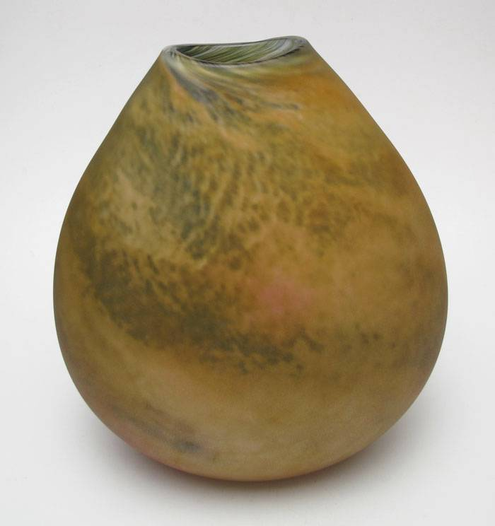 EXCEPTIONAL-SIGNED-GORDON-STUDIO-AUSTRALIAN-STUDIO-ART-GLASS-PEBBLE-POCKET-VASE