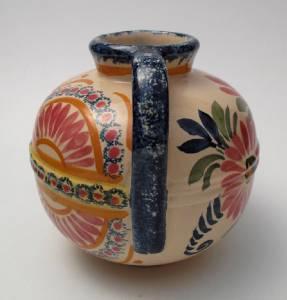 vintage henriot quimper french faience twin handled pottery vase france ebay. Black Bedroom Furniture Sets. Home Design Ideas