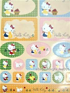 Sanrio Hello Kitty Hardcover Note Book Diary + Stickers